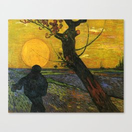 Sower With Setting Sun  - Van Gogh Canvas Print