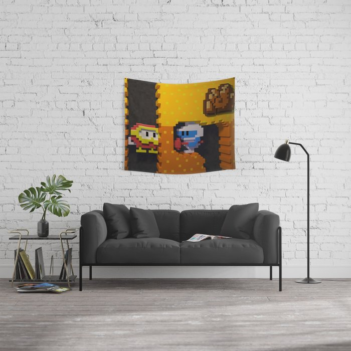 Inside Dig Dug Wall Tapestry