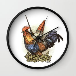 Gnome Knight Wall Clock