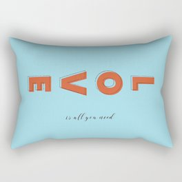 Love is all - typography Rectangular Pillow