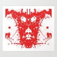 Rorschach's Inkblot #2 Art Print