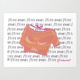 Itchy Boobs Art Print