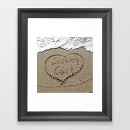 Jersey Girl on the Jersey Shore Framed Art Print