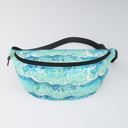 Waves of Paradise in Watercolor Fanny Pack