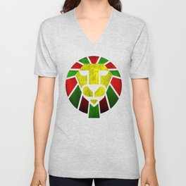 Rasta Lion. Unisex V-Neck