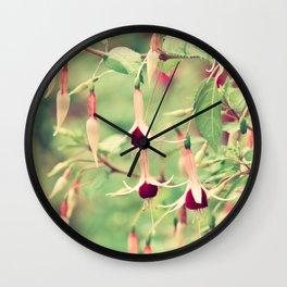 Beautiful Fuchsia Flowers Wall Clock