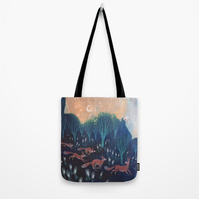 Night of the Foxes Tote Bag