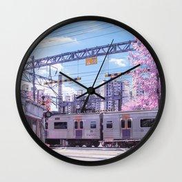 Seoul Anime Train Tracks Wall Clock