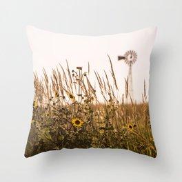 Sunflower Dreams & Windmill Memories... Throw Pillow