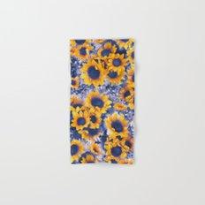 Sunflowers Blue Hand & Bath Towel