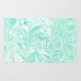 Umeko - spilled ink marble paper marbling art  painting abstract swirl water ocean landscape map Rug