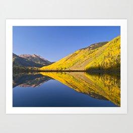 Mirror Reflections at Crystal lake Art Print