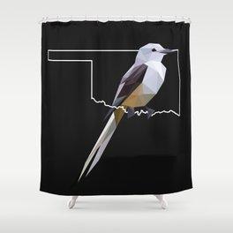 Oklahoma – Scissor-Tailed Flycatcher (Black) Shower Curtain