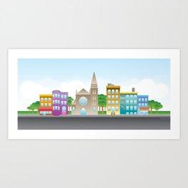 Park Slope Skyline (Color) Art Print