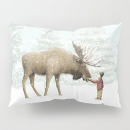 Winter Moose Pillow Sham