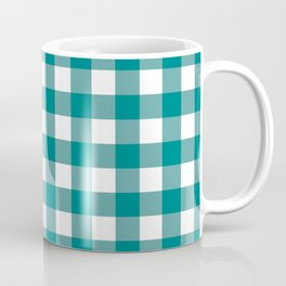Gingham (Teal/White) Coffee Mug