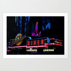 USA Brooklyn Diner Art Print