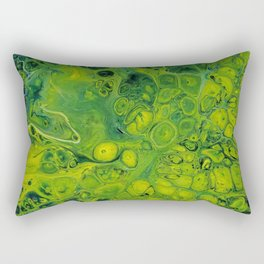 Lily Pad_Abstract Painting Rectangular Pillow
