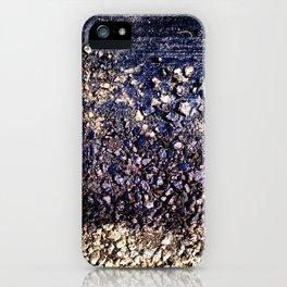 Old blue asphalt iPhone Case
