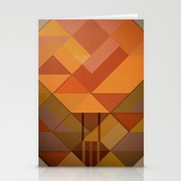 hot air balloon Stationery Cards featuring Hot Air Balloon Abstract by Alyn Spiller