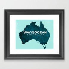 WAY OF THE OCEAN - Australia Framed Art Print