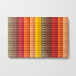 Bold Geometric Stripes Metal Print