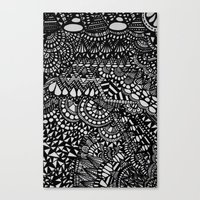 zentangle Canvas Prints featuring Zentangle by Maria Gracia
