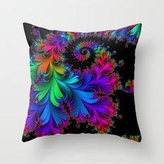 Rainbow Spiral Throw Pillow