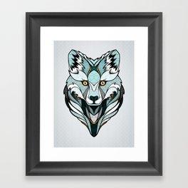 Little Polar Fox Framed Art Print