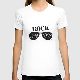 Rock the Sky Aviator Glasses Logo T-shirt