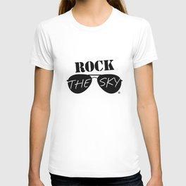 Rock the Sky Aviator Glasses Logo T-shirt