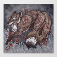 caitlin hackett Canvas Prints featuring The Escapist  by Caitlin Hackett