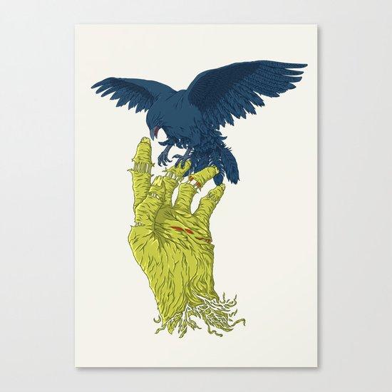 Corvo-papa-zumbi Canvas Print