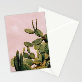 Cactus on Pink Sky Stationery Cards