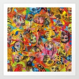 Face Pattern Art Print