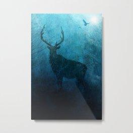 Spirit Elk Silhouette Metal Print