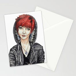 Ruby Geode Gal Stationery Cards