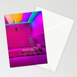 Sleeping on waves Stationery Cards