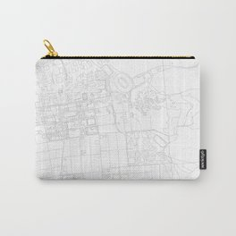Abstract Map of UC Berkeley Campus Carry-All Pouch