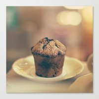 cupcake Canvas Prints featuring Cupcake  by Caroline Mint
