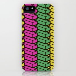 colorful abstract cube pattern iPhone Case