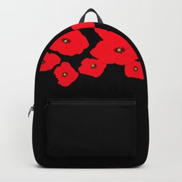 Red Poppies at Night Backpack