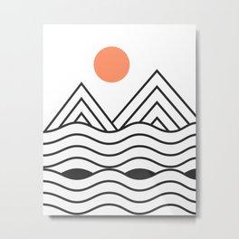 Sunset Minimalist Metal Print