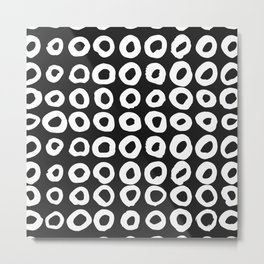 Pattern with hand-drawn ink, painted circles Metal Print
