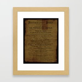 1882 Photographic Books - Vintage Advertising Framed Art Print
