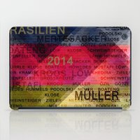 germany iPad Cases featuring Team Germany by hannes cmarits (hannes61)