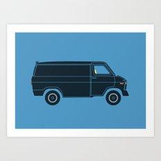 KITT Van Art Print