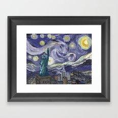 Hurricane Sandy Framed Art Print