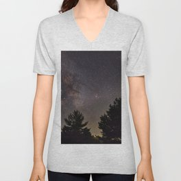 Milkyway at the mountains. Saggitarius Antares and Rho Ophiuchus Unisex V-Neck