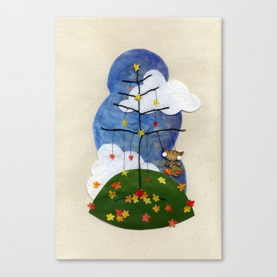 Swing Swing! Cat On A Swing Canvas Print